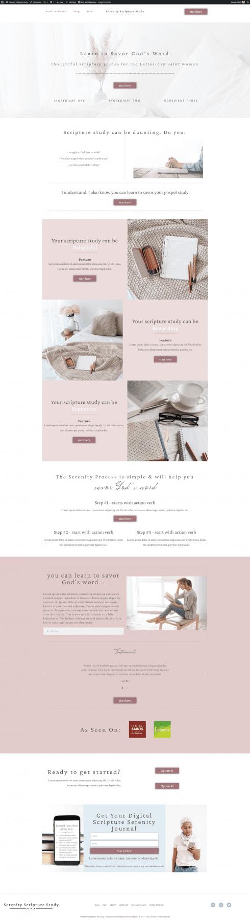 Elementor website templates
