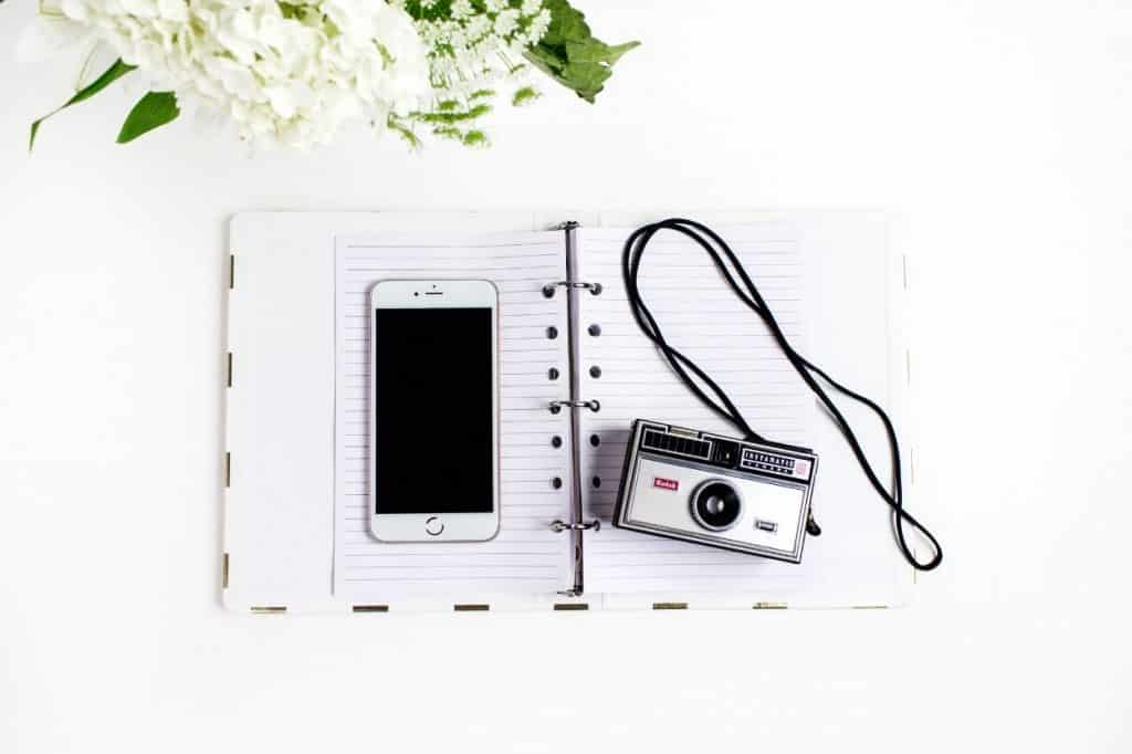 be memorable with camera and journal
