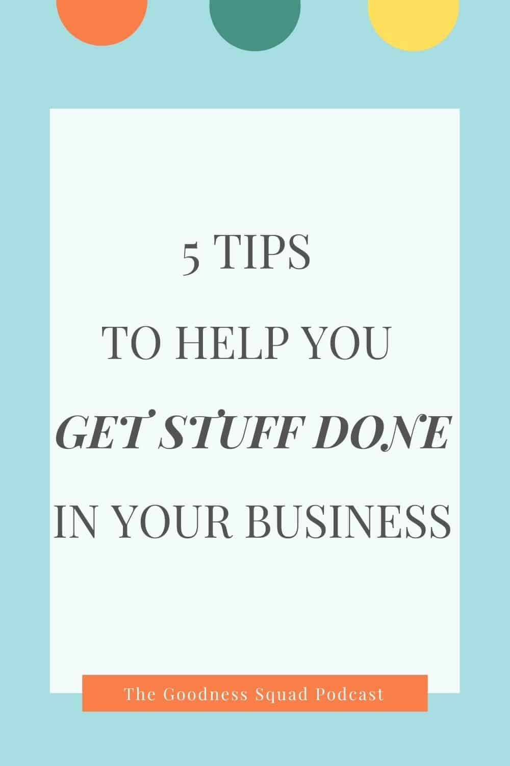 087_5 compelling reasons to practice done is better than perfect in your business